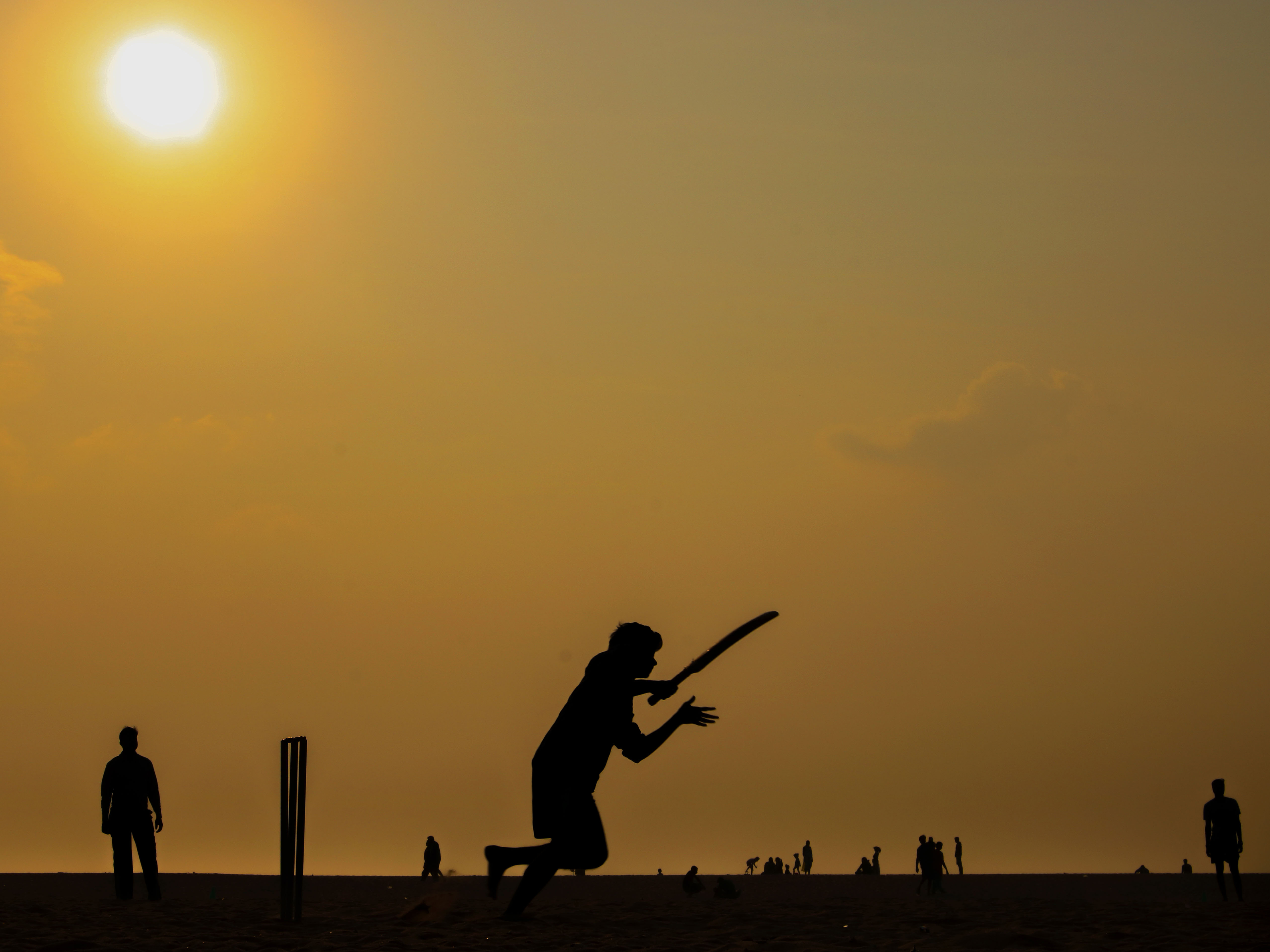 Morning cricket routine