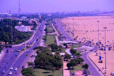 Nama Marina Beach from Top