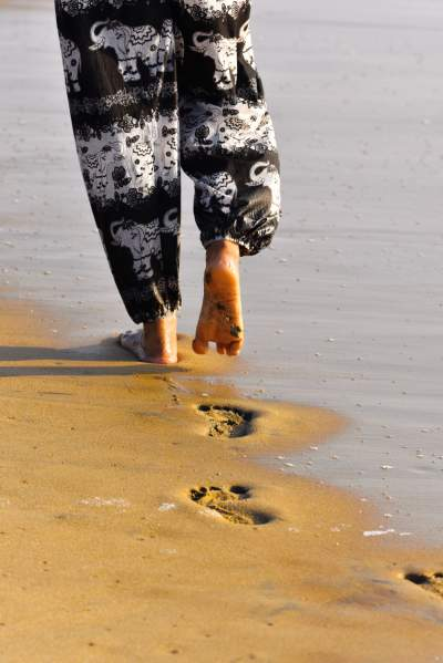 Footsteps in Nama Marina Beach