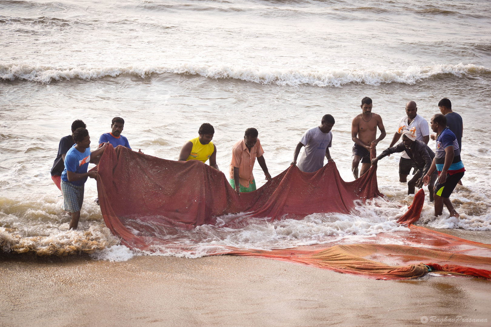 Morning Fishing at Besant Nagar Beach