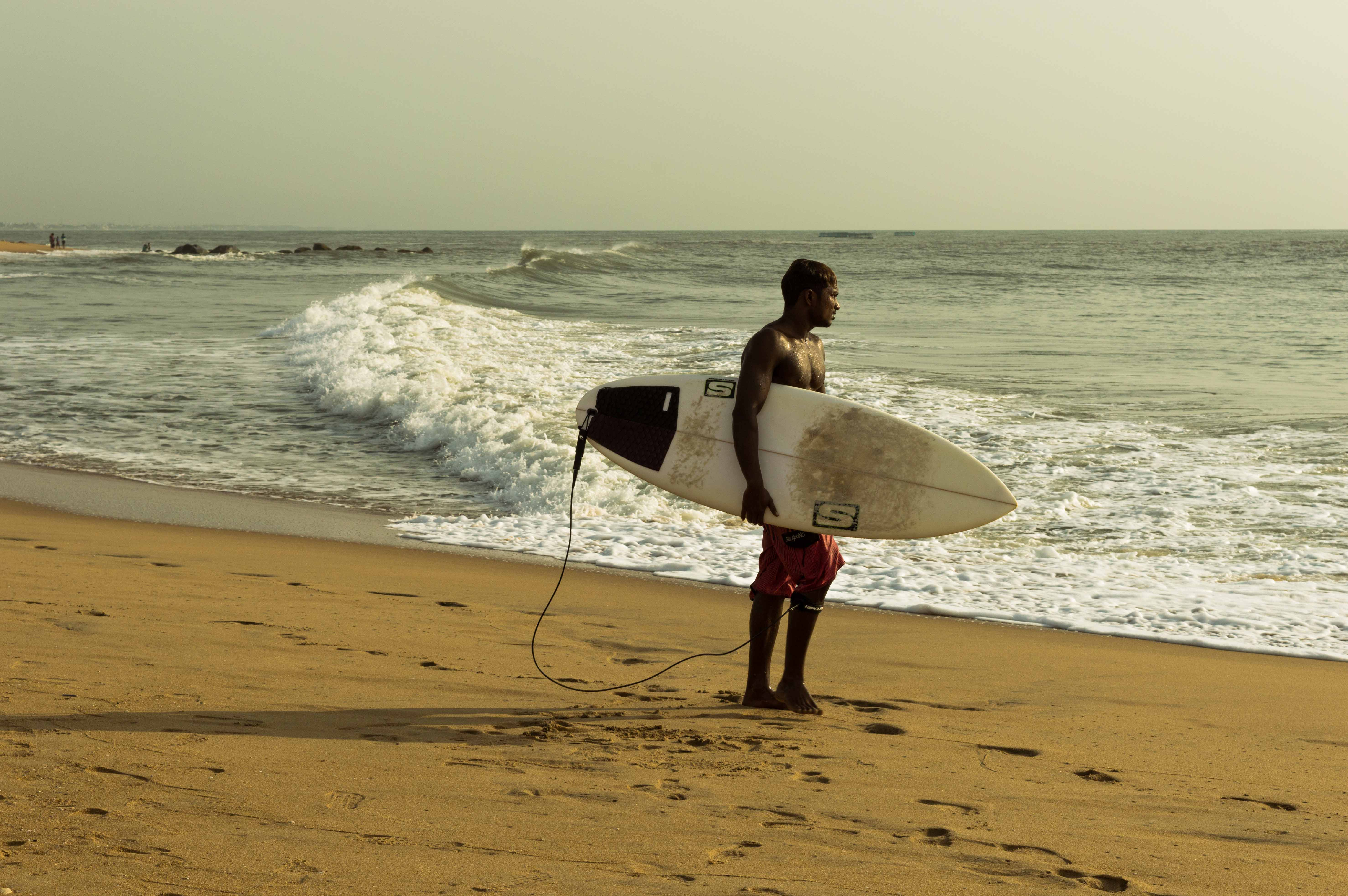 Surfing at Chennai