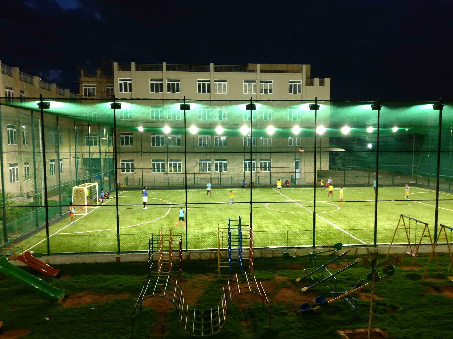 Night game at APL global School, Duraipakkam