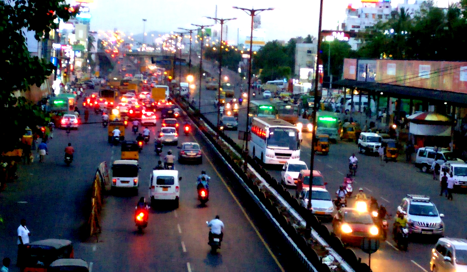 Night Lights of Modern Chennai at GST Road, Chromepet