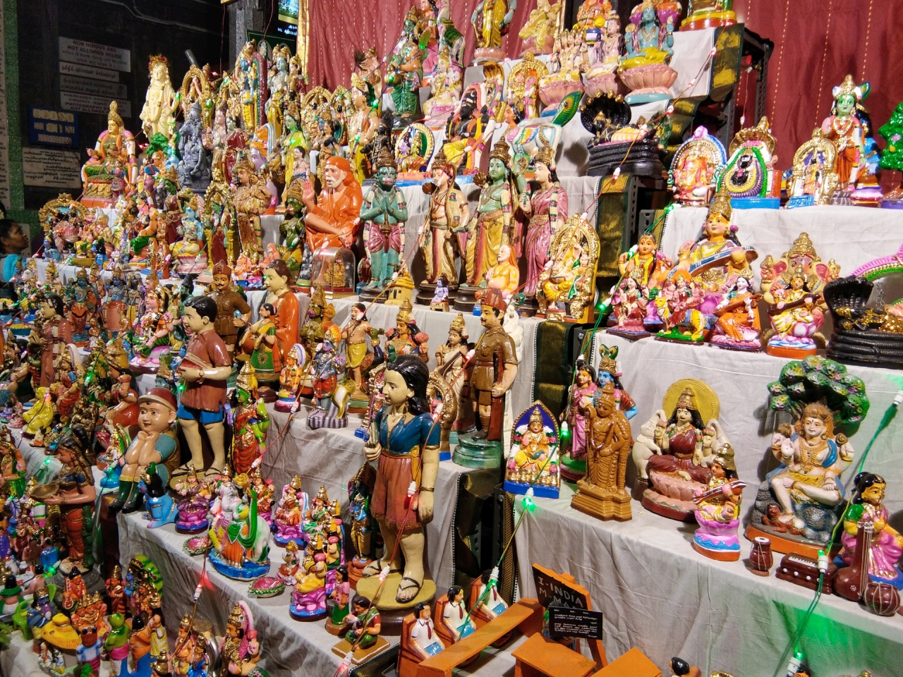 Colorful Golu at Kapaaleeswarar Temple