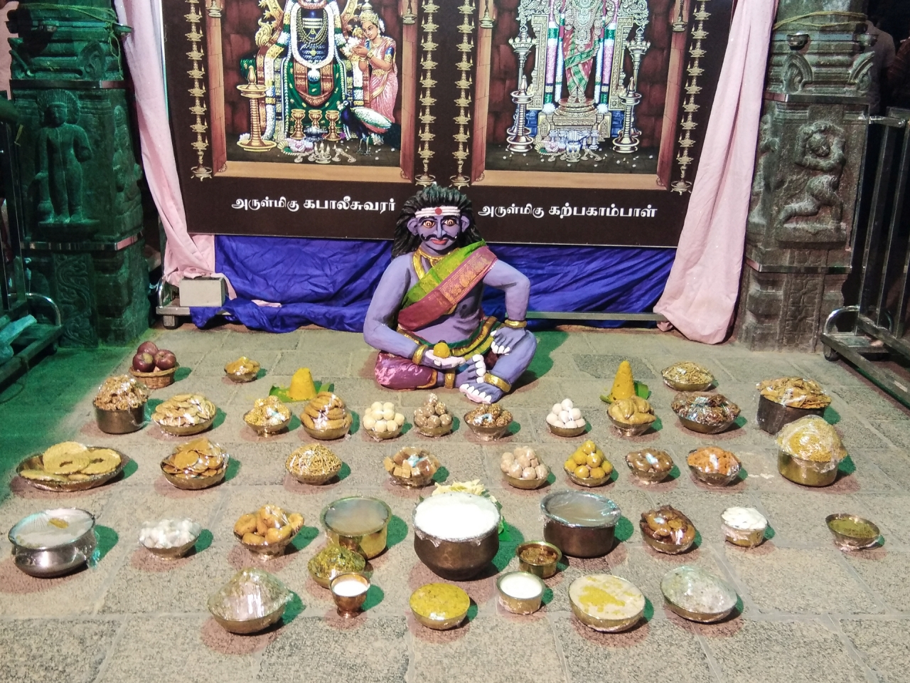 Annamidal for Gundotharan at Kapaleeswarar temple