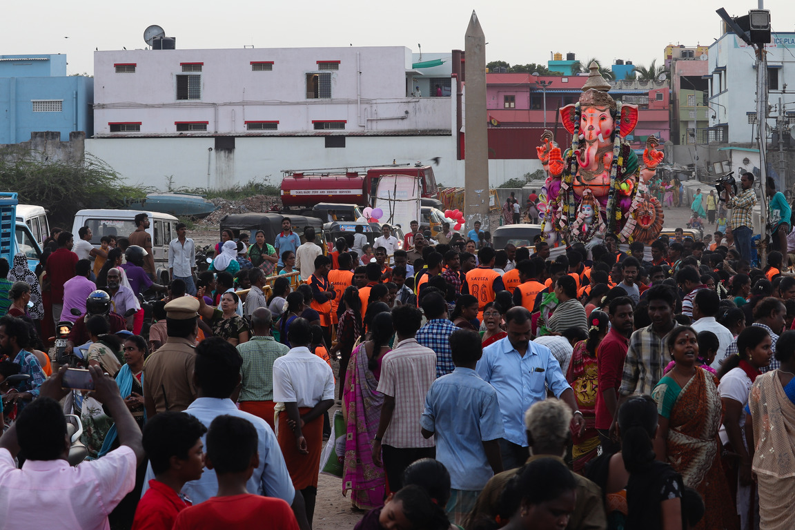 Ganesh Visarjan at Kasimedu Harbour
