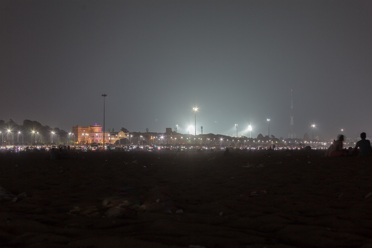Night out in marina beach