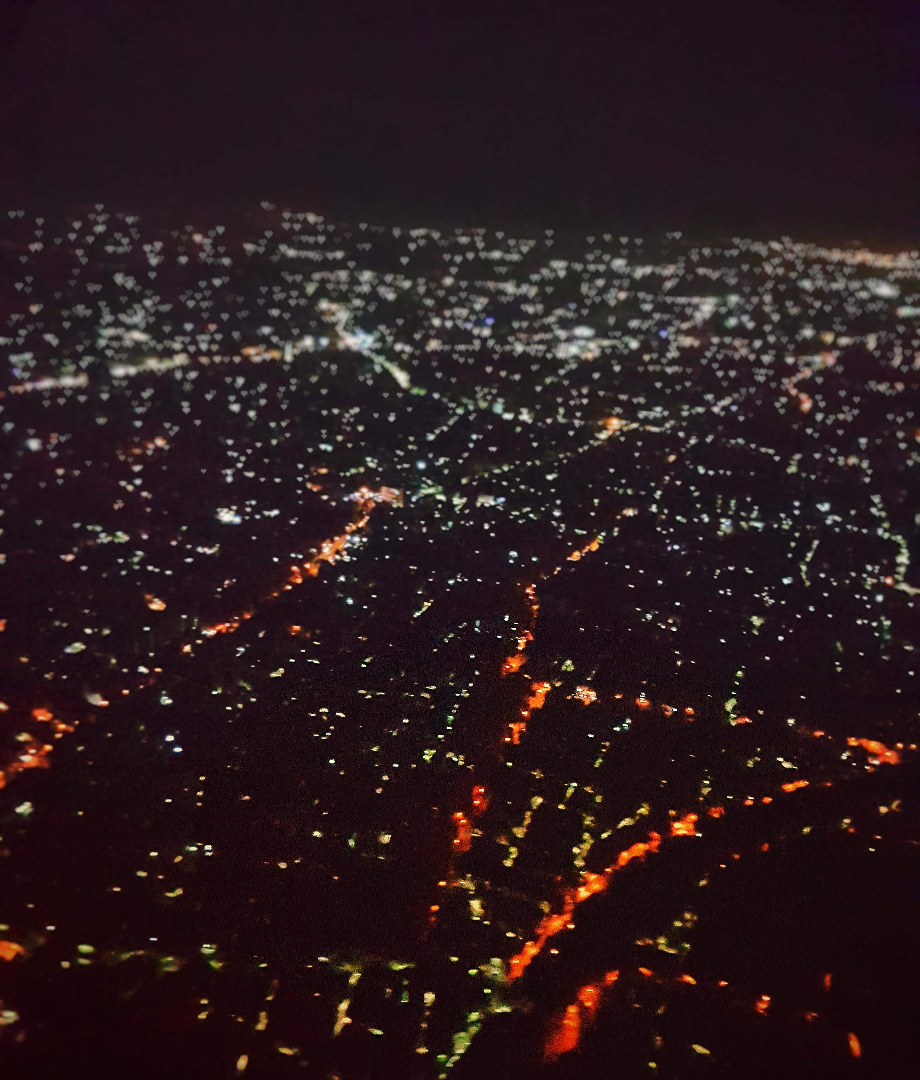 Chennai by night in bird's view