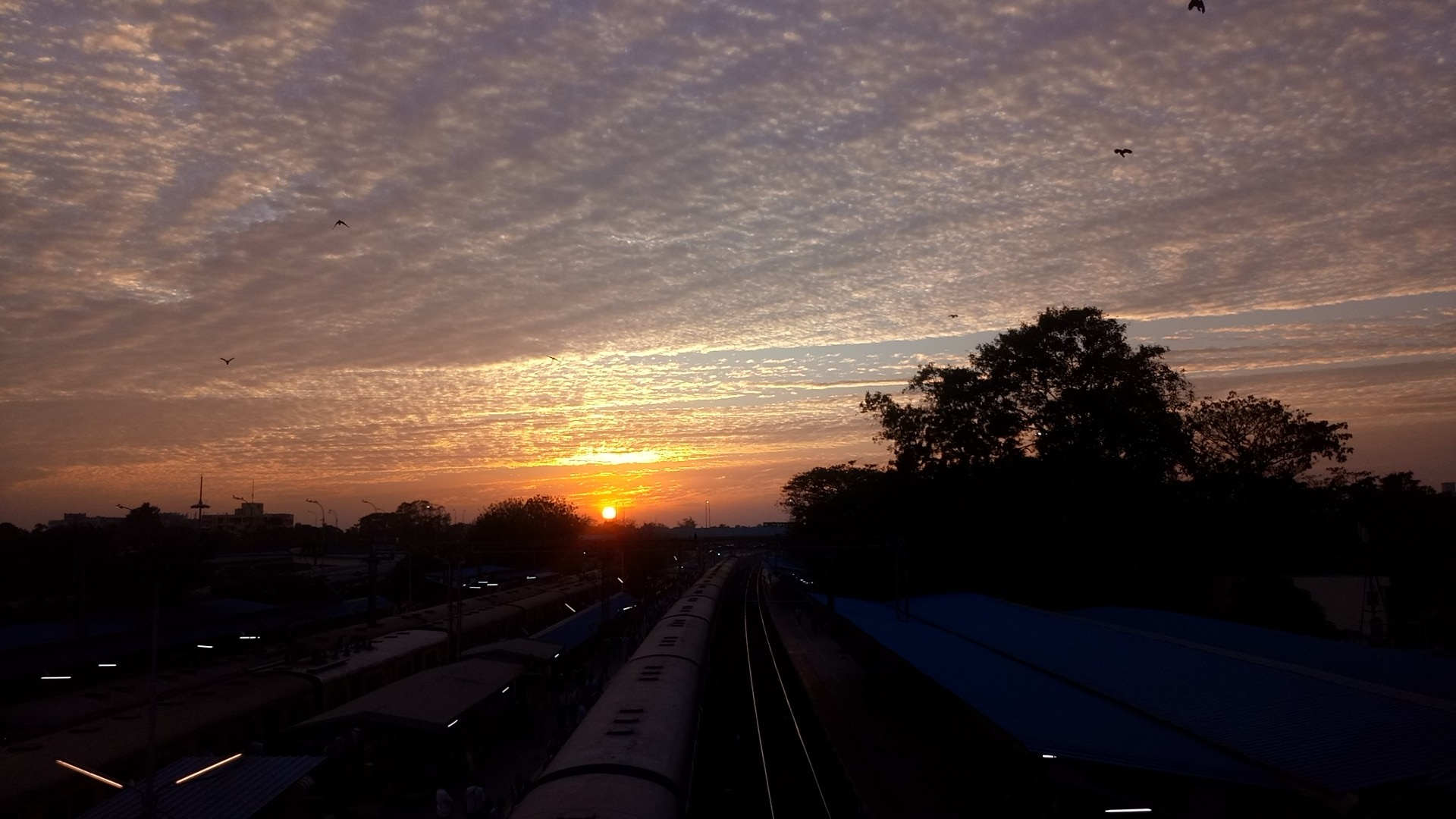 Sunset from a station