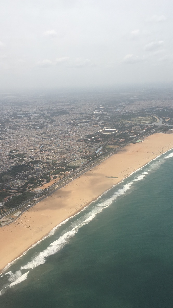 chennai beach.... aerial view