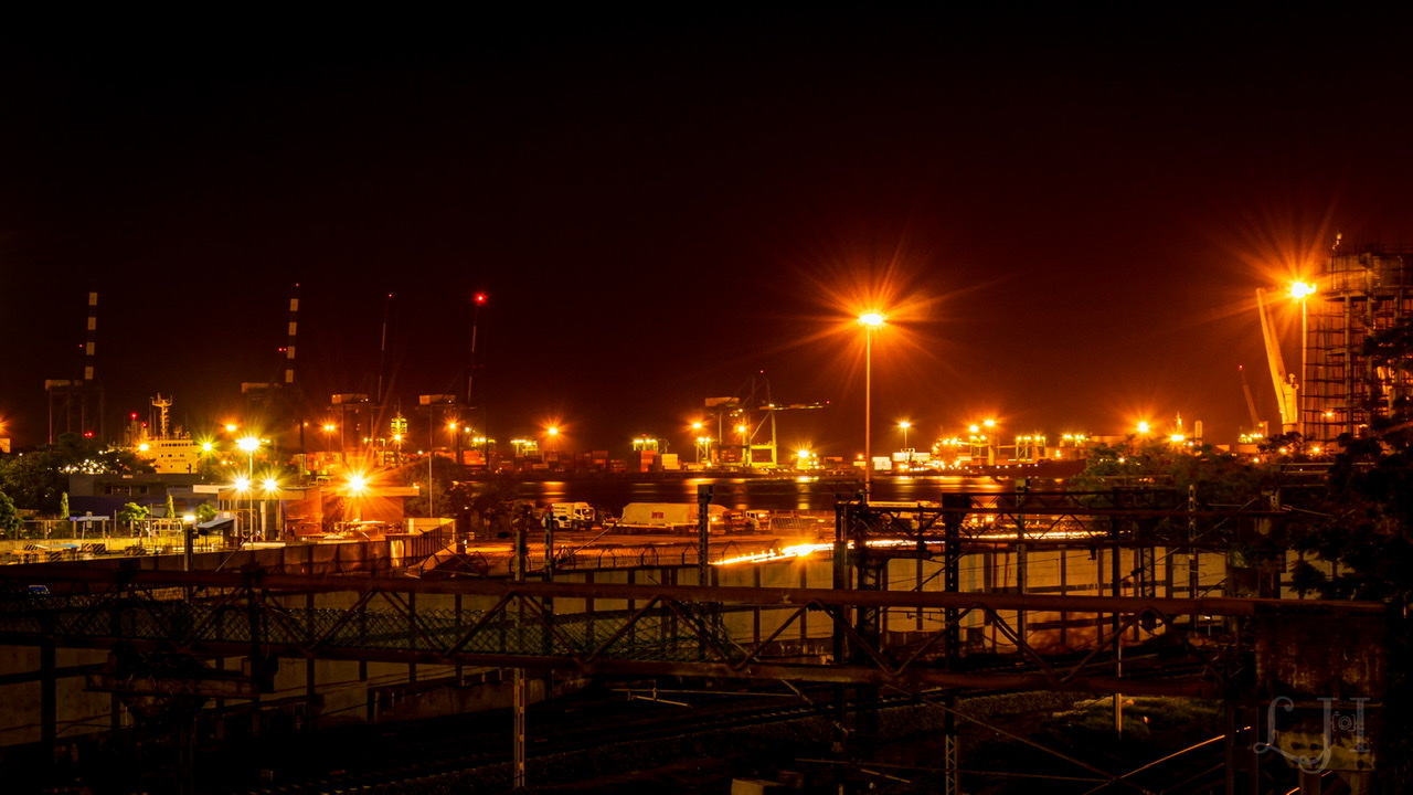 Harbour night view