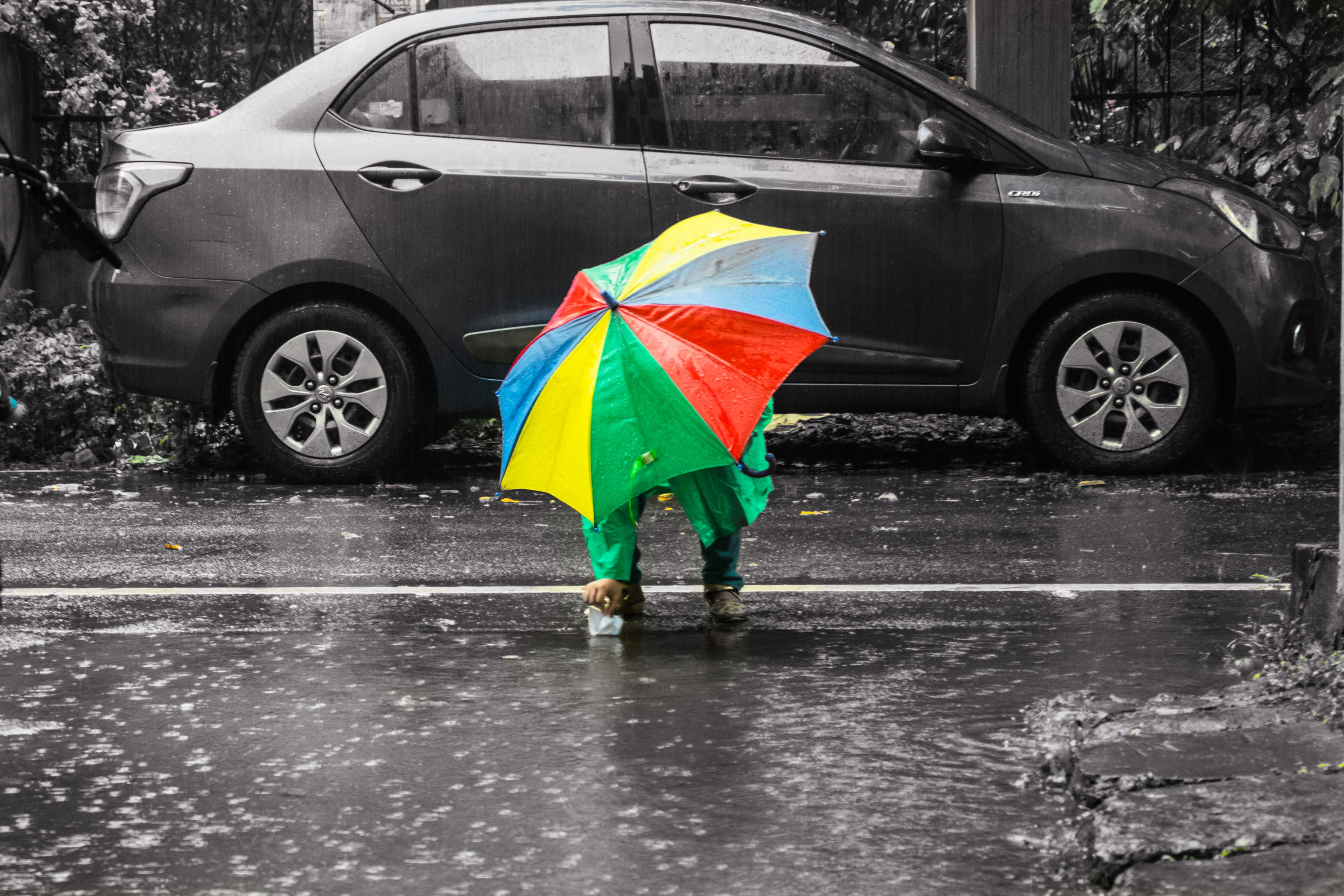 Colourful rains