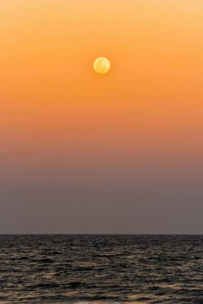 Full moon Day in our Marina Beach